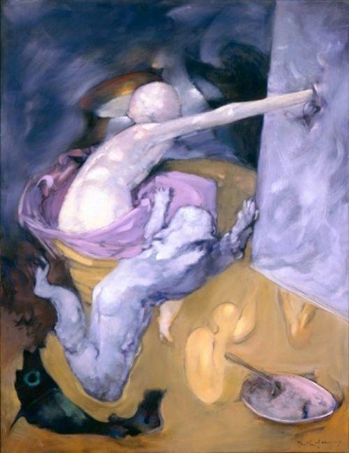 l'inspiration vient en peignant pintado la artista dorothea tanning