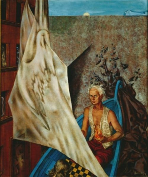 max in a blue boat dorothea tanning