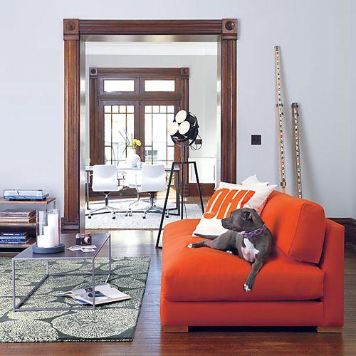 piazza persimmon sofa cb2