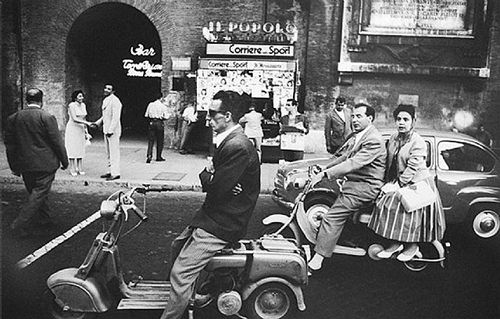 red light piazza flaminica roma 1956 william klein