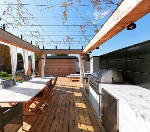 cocina exterior terraza martine brisson