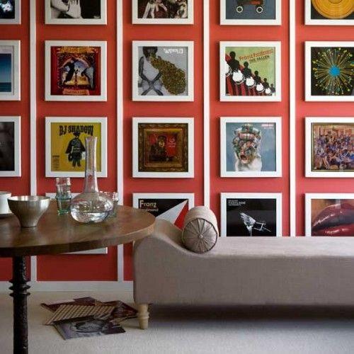 decoracion paredes discos