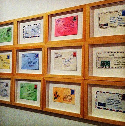 decoracion paredes cartas vintage