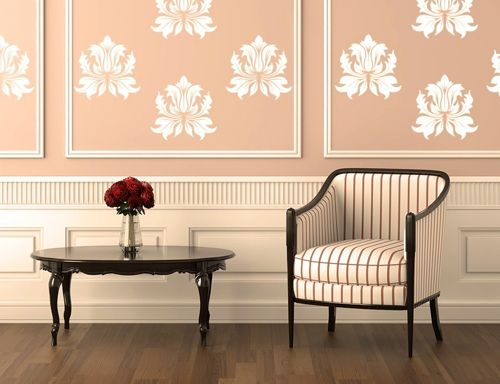 decorar paredes papel rosa