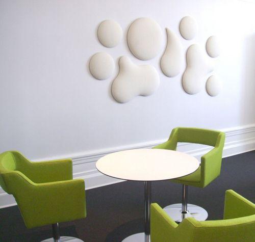 pared blanca circulos pladur