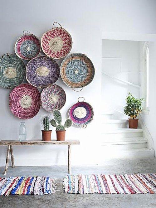 cestos decorar paredes