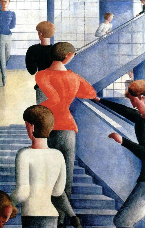 pintura escaleras bauhaus artista oskar schlemmer