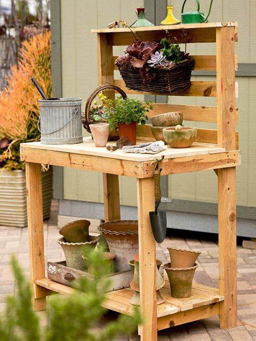 mesa trabajo jardin palets 1001pallets.com