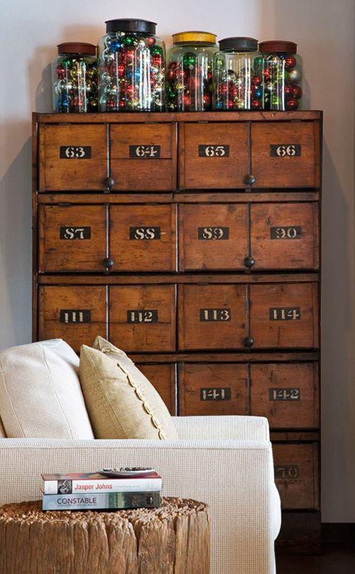 mueble madera vintage