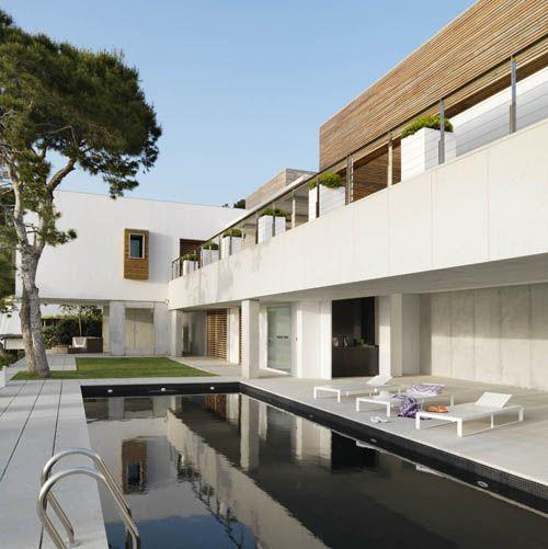 piscina exterior solarium casa vistas mar
