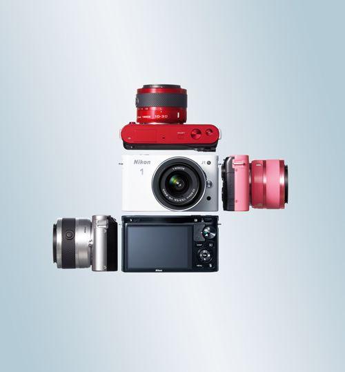 camara fotos Nikon 1 colores red dot