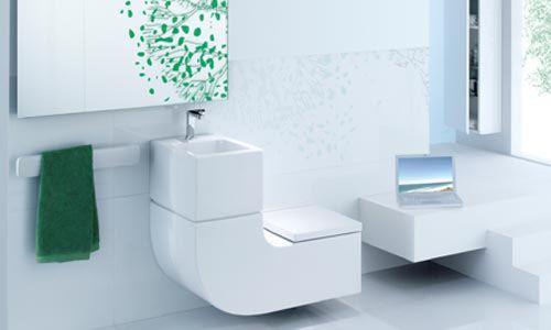 lavabo e inodoro para reciclado agua frente