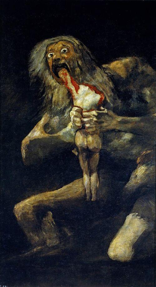 Saturno devorando a un hijo, de Goya.