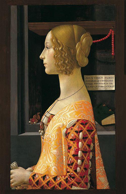 Retrato de Giovanna Tornabuoni, de Ghirlandaio.