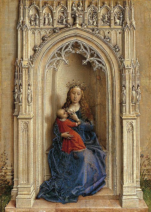 La Virgen con el Niño entronizada, de Van der Weyden.