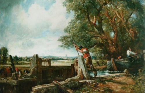 La esclusa, de John Constable.
