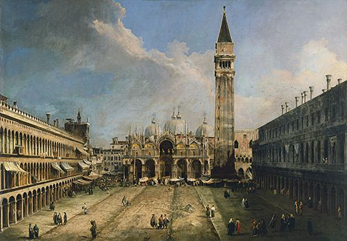 Vista de la Plaza de San Marco en Venecia, de Canaletto.
