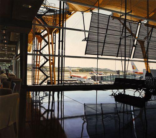 aeropuerto barajas vista interior por jose miguel palacio