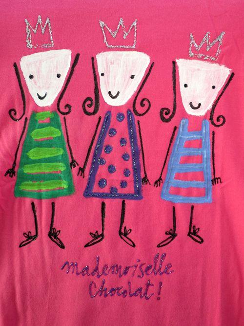 camiseta rosa madmoiselle chocolat participante nueva convocatoria madmoisellechocolat-shirts.blogspot.com.es