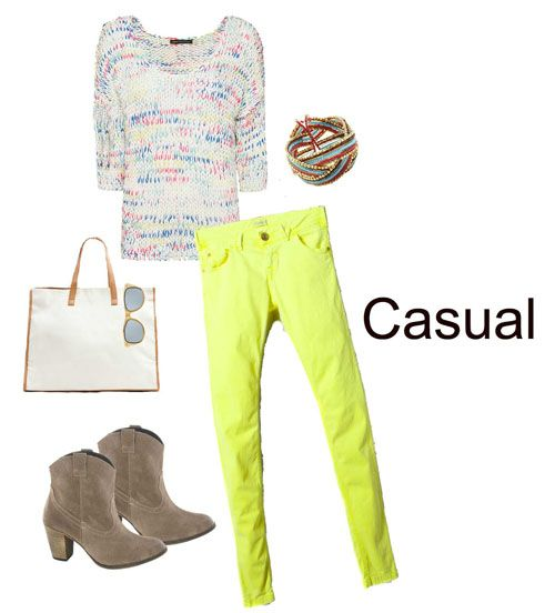 combinacion fluor color neutro lokk casual thadertendencias.com