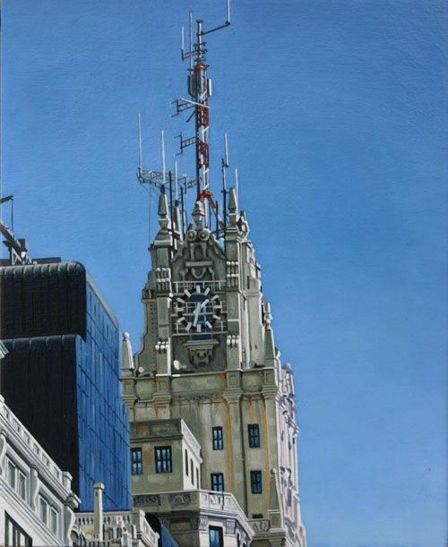 madrid cielo torre edificio telefonica gran via