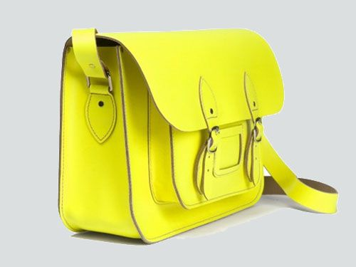 bolso satchel bag tono fluor color amarillo satchelbag.es
