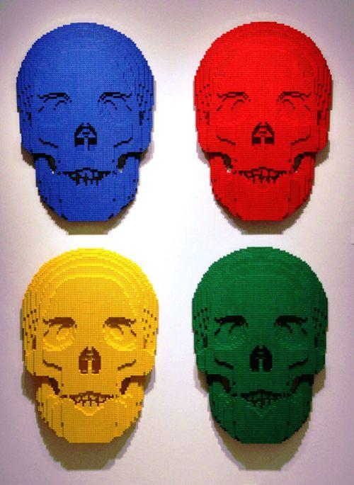 skulls escultura lego nathan sawaya brickartist.com