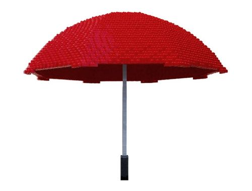 umbrella escultura lego nathan sawaya in piece inpiecescollection.com