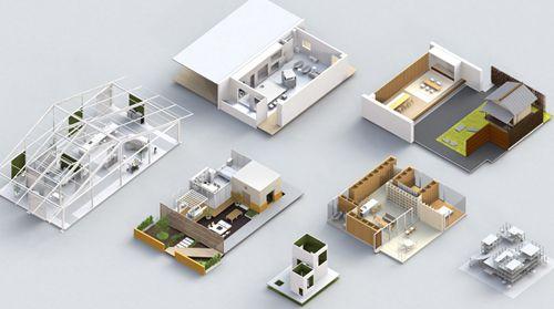 modelos casas exposicion house vision designboom.com