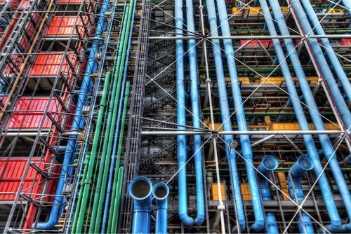 fachada conductos colores centro pompidou caxigalinas.blogspot.com