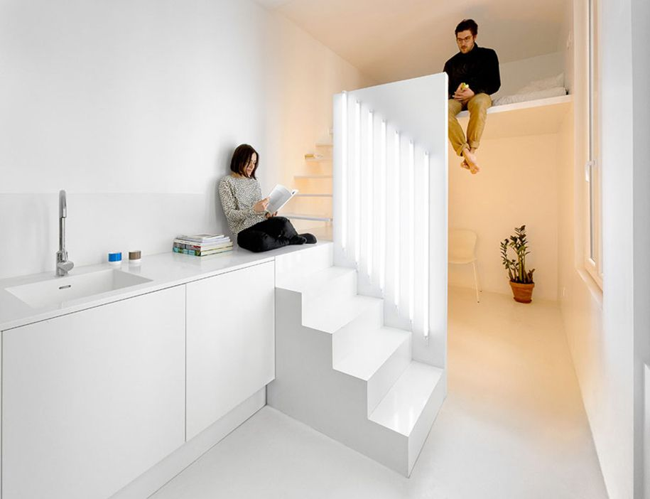 Llamativo apartamento minimalista en París
