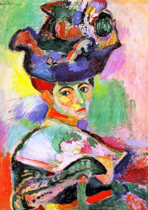 mujer sombrero obra fauvista henri matisse historiadelartecbe.blogspot.com.es