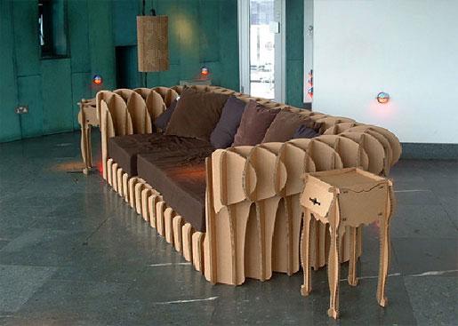 Tendencias sostenibles: muebles de cartón