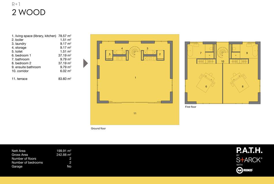 planta casa modular prefabricada
