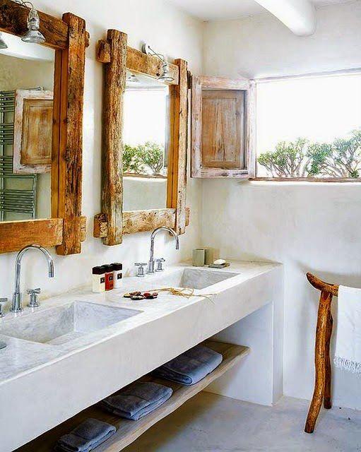 baño rustico estilo decoracion
