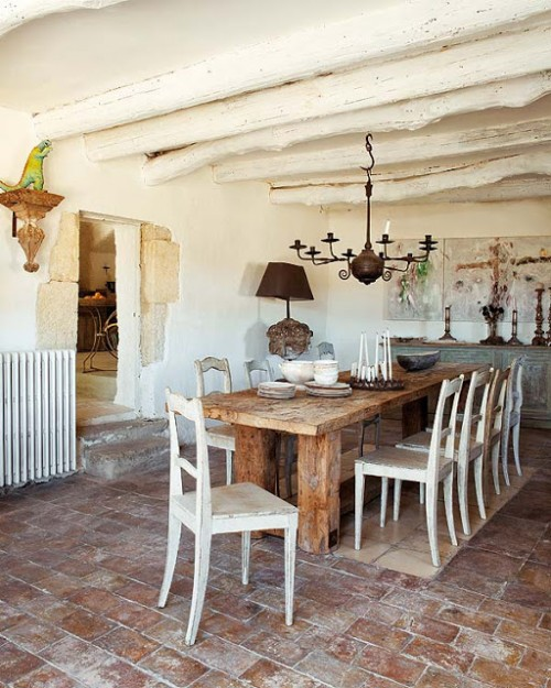 comedor rural shabby chic