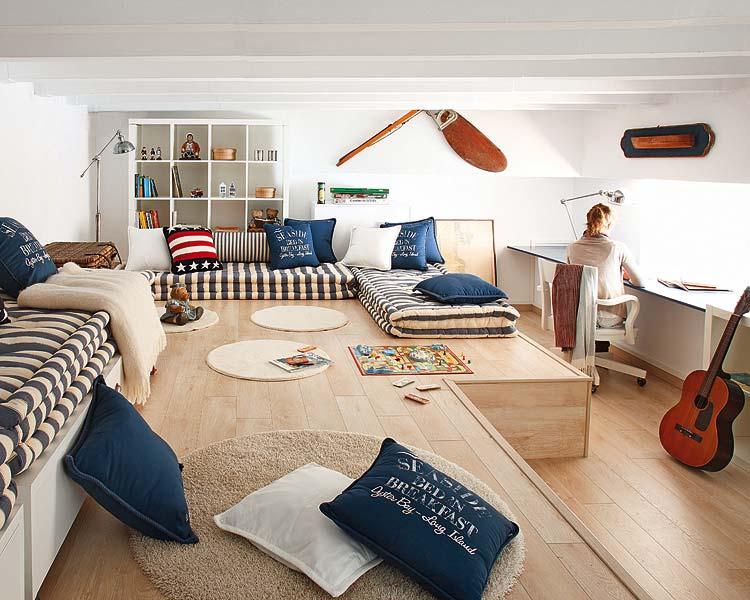 decoración navy estudio en casa inspiracion marinera