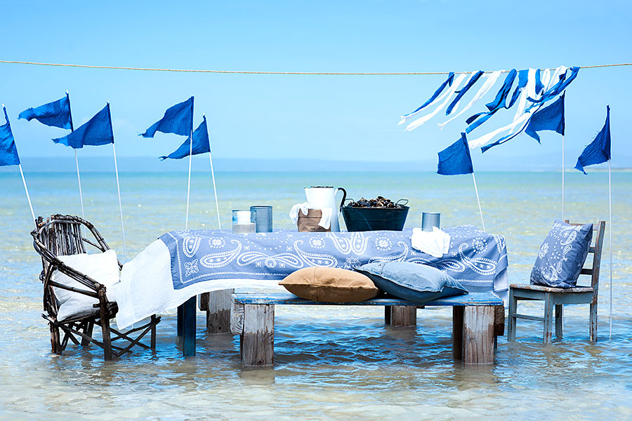 decoración navy picnic en el mar