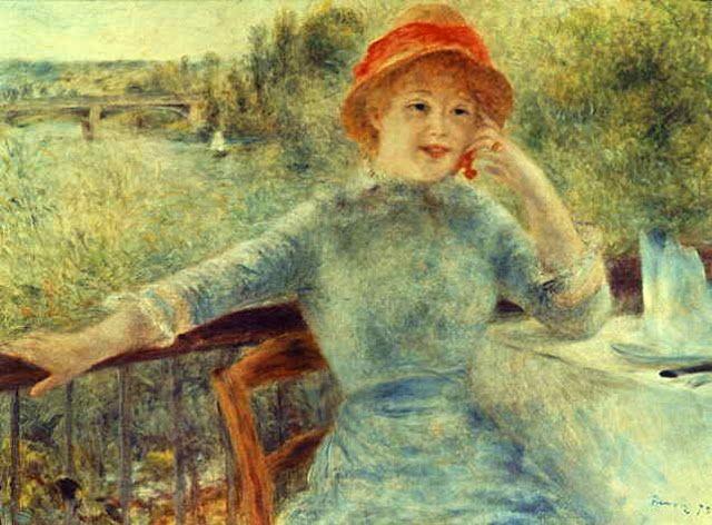 retrato mujer impresionismo renoir