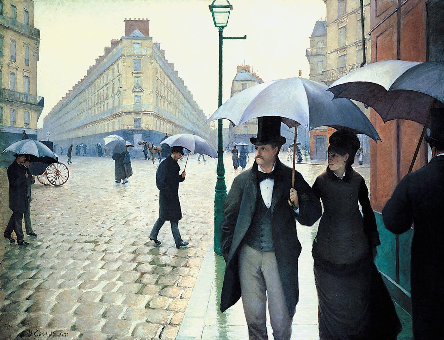 paris con lluvia cuadro impresionismo