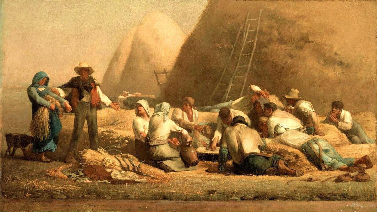 labradores descansando impresionista