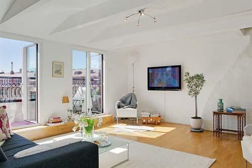 Apartamento ático acogedor de gran espacio
