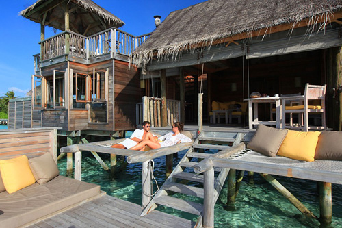 Clientes disfrutando de la villa Gili_Lankanfushi.