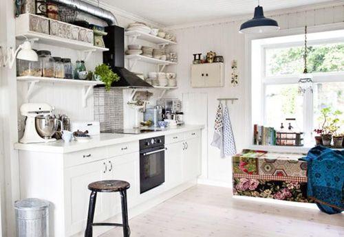 Cocina casa bohemia en Oslo