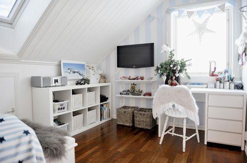 Habitación con toques navideños