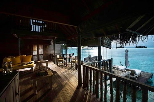 Interior de una villa Gili Lankanfushi.