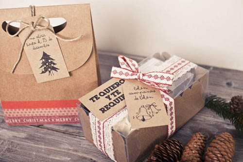 Regalos navideños con mensaje