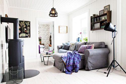 Salón casa bohemia en Oslo