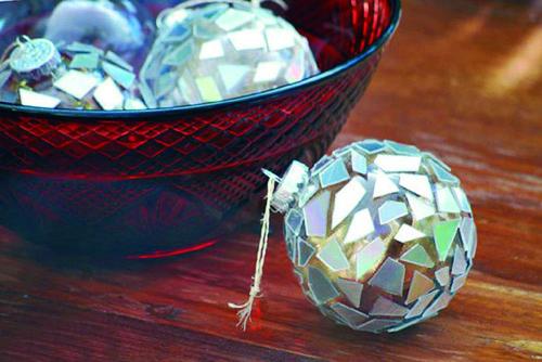 Bolas de Navidad con cristalitos
