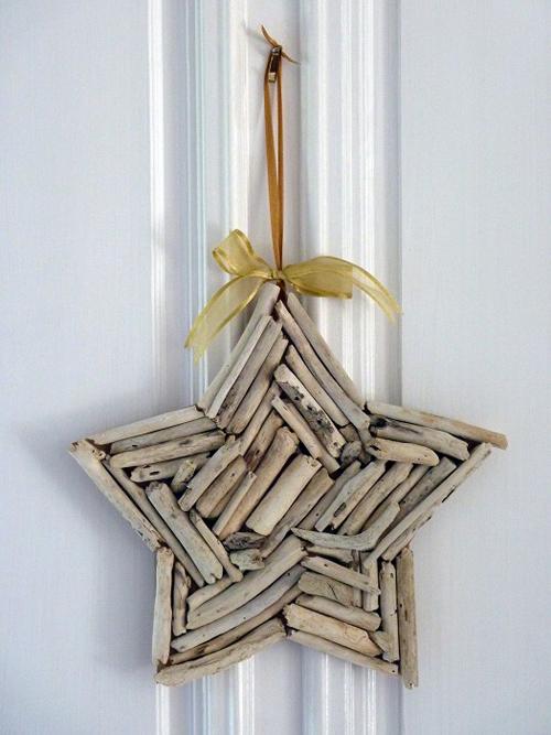 Estrella de Navidad de madera DIY